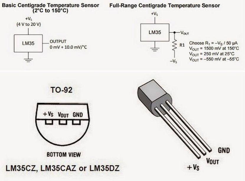 LM35 schemat