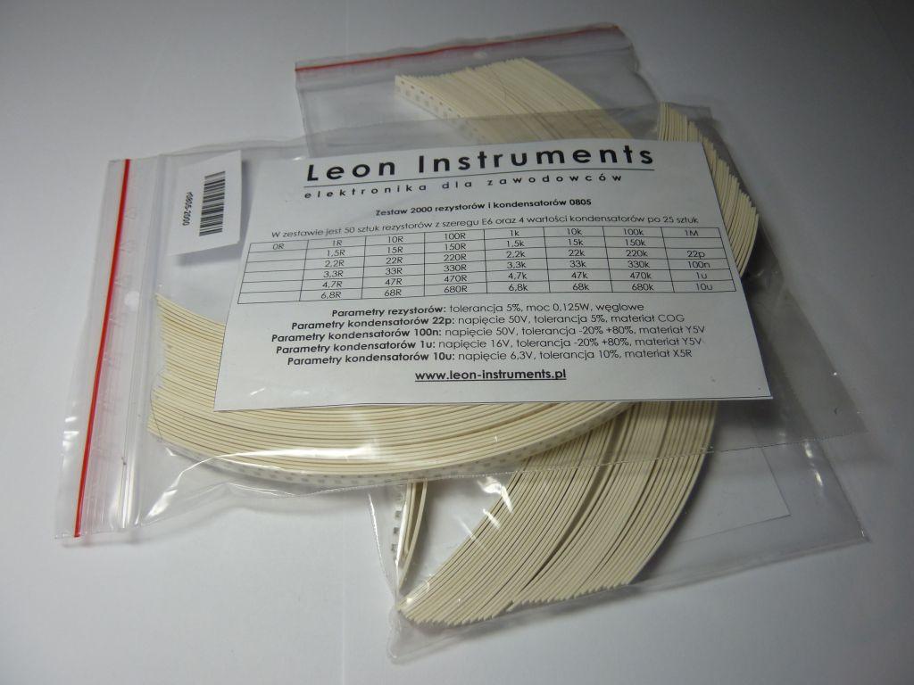Zestaw rezystorów i kondensatorów 0805 SMD