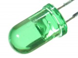 LED zielony crystal 5mm (10szt)