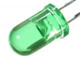 LED zielony crystal 5mm (10szt)