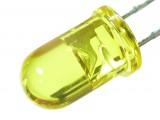 LED żółty crystal 5mm (10szt)
