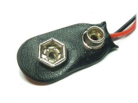 Zatrzask wtyk klips bateria 9V 6F22 (2szt)