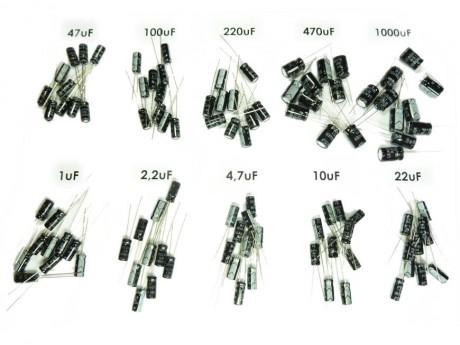 Zestaw kondensatorów elektrolitycznych