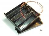 Koszyk na 4 baterie AA R6 z pokrywką i wyłącznikiem