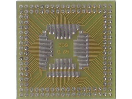 Adapter QFP52 QFP80 QFP100 raster 0,65mm