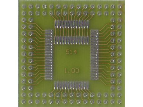 Adapter QFP52 QFP64 prostokąt raster 1,0mm