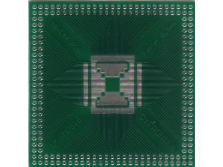 Adapter QFP48 QFP80 QFP100 QFP144 raster 0,5mm