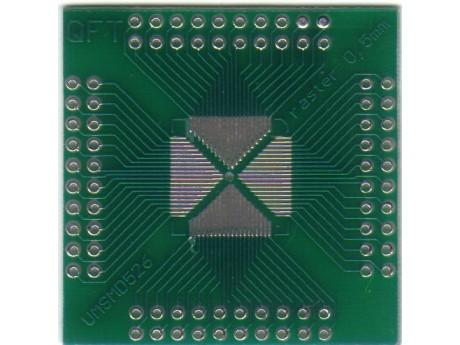 Adapter QFP16 QFP32 QFP44 QFP48 QFP52 QFP64 QFP80 raster 0,5mm