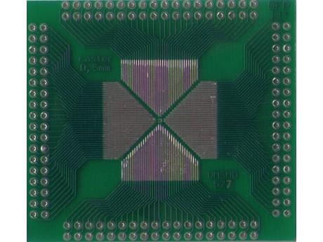 Adapter QFP16 QFP32 QFP44 QFP48 QFP52 QFP64 QFP80 QFP100 QFP 144 raster 0,5mm