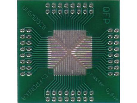 Adapter QFP16 QFP32 QFP44 QFP48 QFP52 QFP64 raster 0,8mm