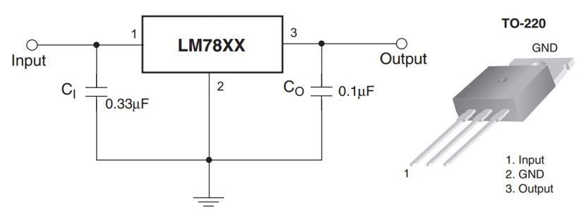 Stabilizator 7805 7812 78xx schemat kalkulator