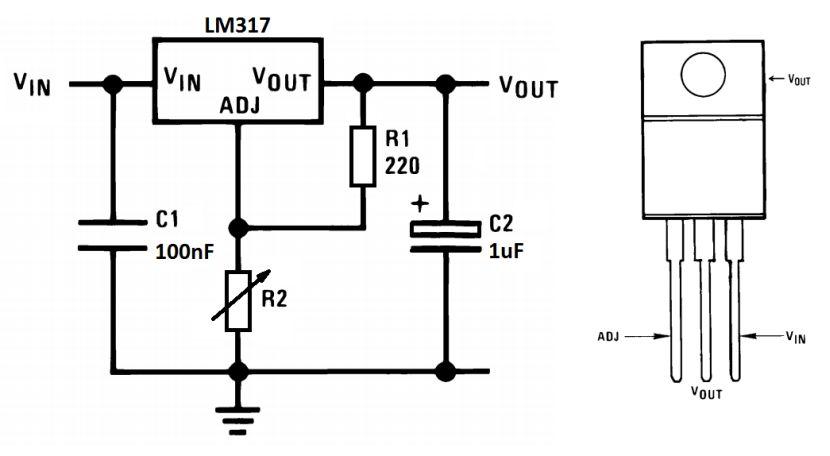LM317 schemat kalkulator