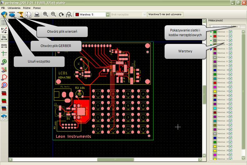 Program Kicad Gerbview
