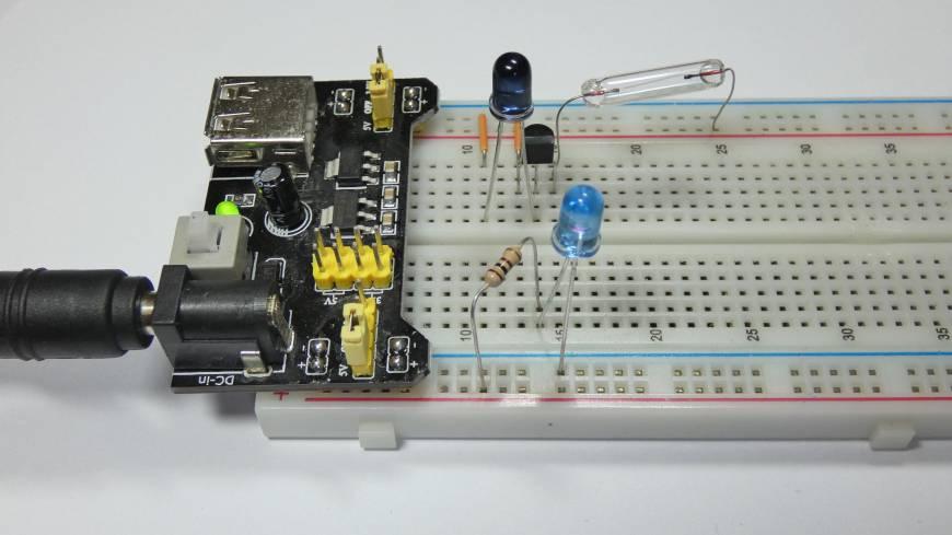 Sensor IR na płytkce stykowej