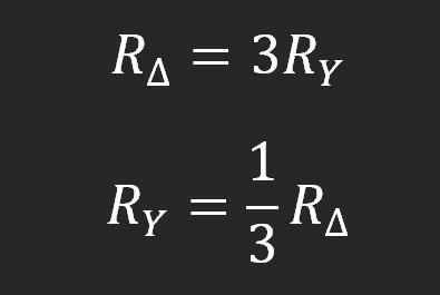 Gwiazda trójkąt uproszczony wzór