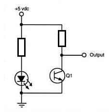 Schemat fototranzystor